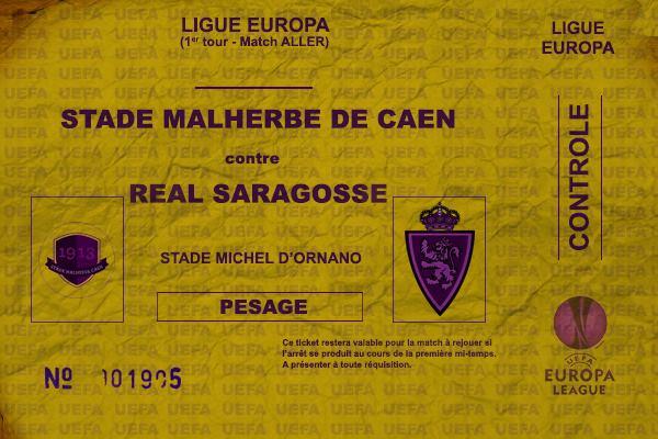 Ticket Caen-Saragosse
