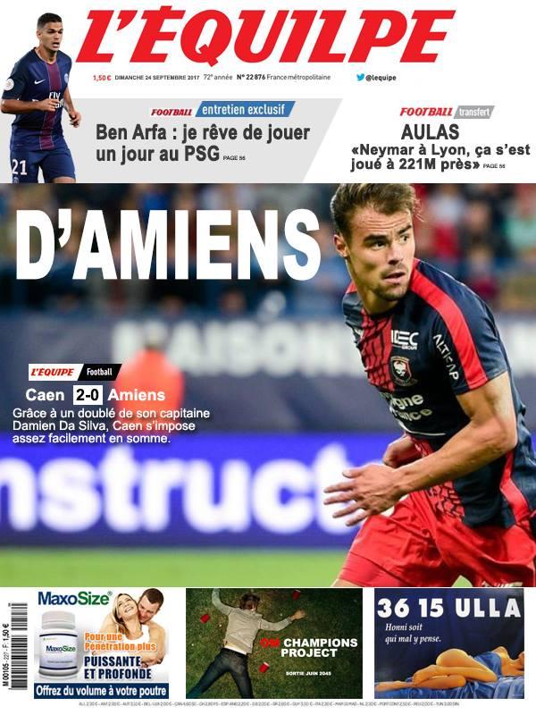 La Une après Caen-Amiens