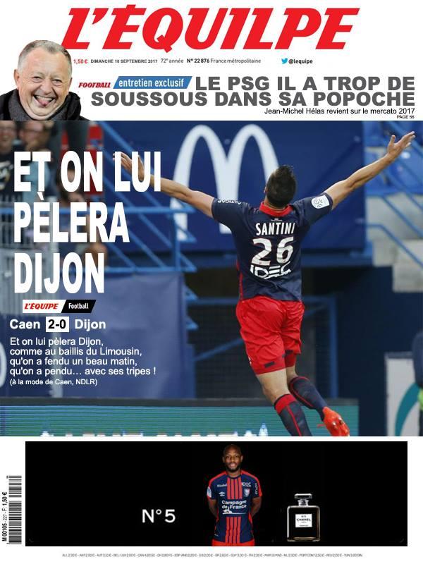 La Une après Caen-Dijon