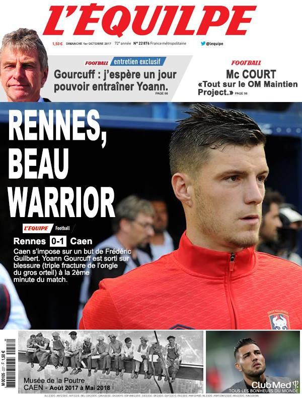 La Une après Rennes-Caen