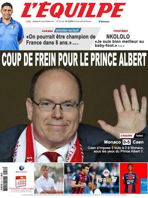 La Une après Monaco-Caen