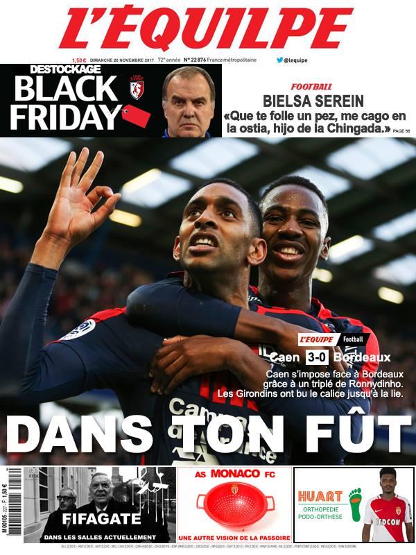 La Une après Caen-Bordeaux