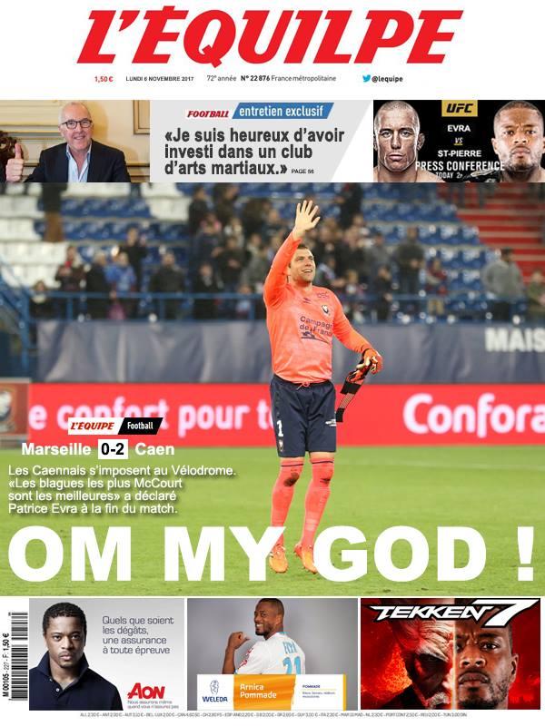 La Une après Marseille-Caen