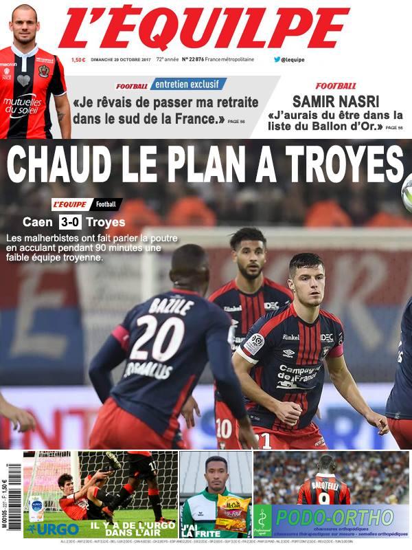 La Une après Caen-Troyes