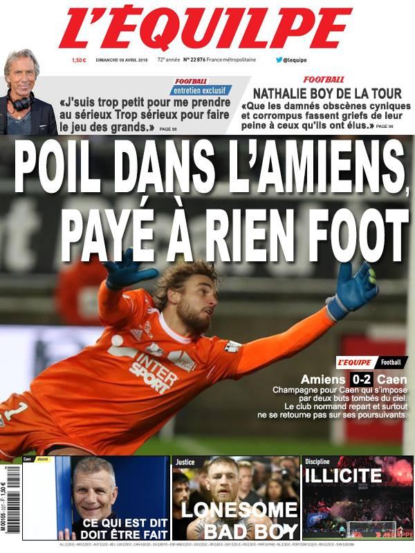 La Une après Amiens-Caen