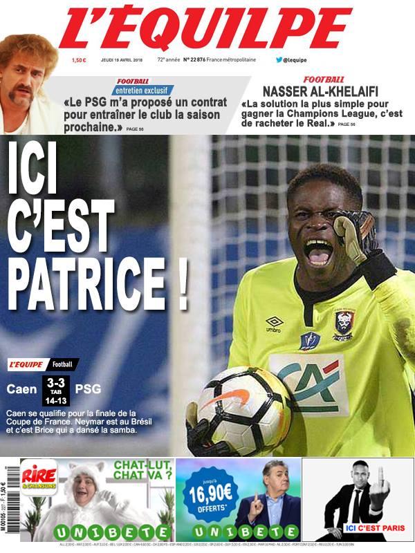 La Une après la Coupe de France