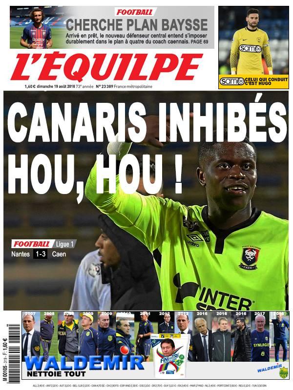 La Une après Nantes - Caen