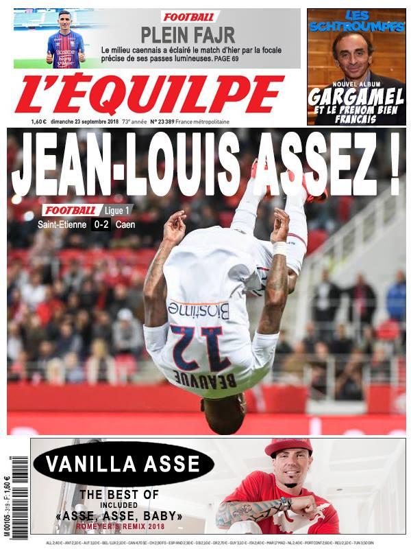 La Une après ASSE - Caen