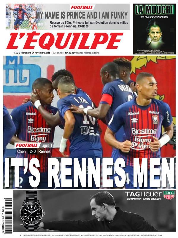 La Une après Caen - Rennes