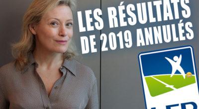 Résultats 2019 annulés