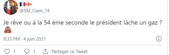 Tweet Olivier Pickeu pète peut-être